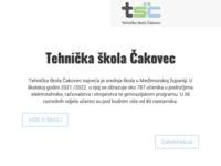 Slika naslovnice sjedišta: Tehnička škola Čakovec (http://www.tsck.hr)