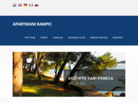 Frontpage screenshot for site: Apartmani Kampic - Poreč (http://www.apartmani-kampic.hr)