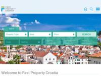 Frontpage screenshot for site: Prodaja nekretnina u Hrvatsko (http://firstpropertycroatia.com/)