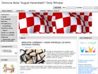 Slika naslovnice sjedišta: Osnovna škola August Harambašić, Donji Miholjac (http://www.os-aharambasica-donjimiholjac.skole.hr/)