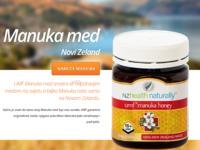 Frontpage screenshot for site: Manuka med (http://manuka.hr/)
