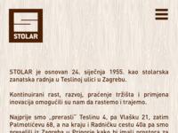 Slika naslovnice sjedišta: Stolar - opremanje interijera, proizvodnja drvenog namještaja (http://www.stolar.hr)