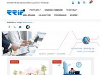 Slika naslovnice sjedišta: RRiF (http://www.rrif.hr)