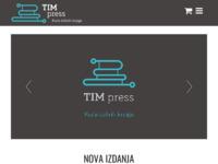 Frontpage screenshot for site: TIM press (http://www.tim-press.hr)