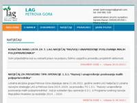 Slika naslovnice sjedišta: LAG Petrova Gora (http://www.lag-petrova-gora.hr)
