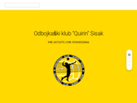 Slika naslovnice sjedišta: Odbojkaški klub Quirin, Sisak (http://okquirinsisak.hr)
