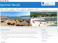 Frontpage screenshot for site: Apartmani Marušić - Žrnovnica (http://www.apartman-marusic.hr)