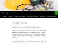Slika naslovnice sjedišta: Radna sigurnost j.d.o.o. (http://www.radna-sigurnost.hr/)