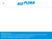 Frontpage screenshot for site: Biz Plima (http://bizplima.hr)