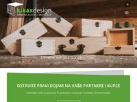Frontpage screenshot for site: Drvene kutije Kikaxdesign (http://www.kikaxdesign.hr)