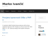 Frontpage screenshot for site: Marko Ivančić osobni blog (http://www.markoivancic.from.hr)
