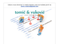 Frontpage screenshot for site: Tomić & Vuković (http://www.tiv.hr)