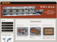 Slika naslovnice sjedišta: O.K.I. d.o.o. - Strojni vez, lasersko rezanje i graviranje (http://www.oki.hr)