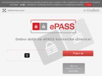 Slika naslovnice sjedišta: ePASS - vjerodajnica za sustav e-Građani (http://epass.gov.hr)
