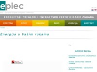 Frontpage screenshot for site: EPIEC - energetski pregledi i energetsko certificiranje zgrada (http://epiec.hr)
