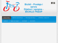 Frontpage screenshot for site: Bicikli Fržop Vodice (http://www.bicikle-frzop.hr/)