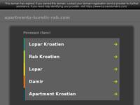 Frontpage screenshot for site: Apartmani Lucija, otok Rab, Hrvatska (http://www.apartments-kurelic-rab.com)