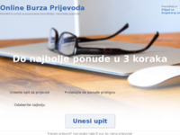 Frontpage screenshot for site: Online Burza Prijevoda (http://www.prevedi.hr)