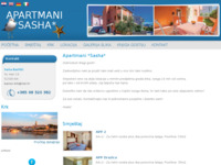 Frontpage screenshot for site: Apartmani Sasha - Krk (http://www.barisic-apartmani.hr)