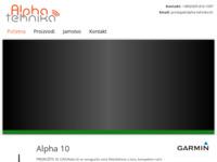 Slika naslovnice sjedišta: Alpha Tehnika - prodaja GPS opreme (http://www.alpha-tehnika.hr)