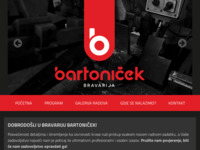 Frontpage screenshot for site: Kovana Bravarija Bartoniček (http://www.bartonicek.hr)