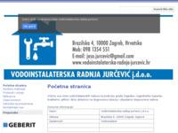 Frontpage screenshot for site: Vodoinstalater Jurčević Zagreb Gajnice (http://www.vodoinstalaterska-radnja-jurcevic.hr)