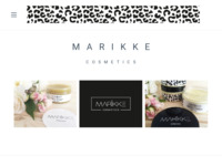 Frontpage screenshot for site: Marikke - prirodna kozmetika (http://www.marikke.hr)
