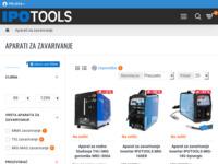 Frontpage screenshot for site: Ipo Tools alati (http://www.ipo-tools.hr/aparati-za-zavarivanje)