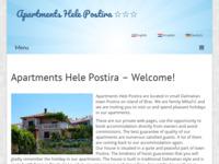 Frontpage screenshot for site: Apartmani Hele Postira, Brač (http://www.apartmentspostira.com/)