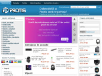 Frontpage screenshot for site: Protis (http://www.protis.hr)
