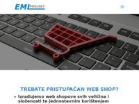 Slika naslovnice sjedišta: EML-Projekt - Izrada web stranica i web shopova (http://www.eml-projekt.hr)