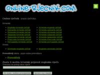 Frontpage screenshot for site: Dominatus d.o.o. (http://www.online-rjecnik.com/)