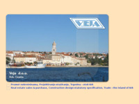 Frontpage screenshot for site: Veja d.o.o. - Island of Krk, Croatia (http://veja.hr)