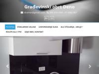 Slika naslovnice sjedišta: Građevinski obrt Deno (http://deno-obrt.hr)