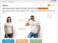 Slika naslovnice sjedišta: Majice.com.hr - prva misao, kada su u pitanju majice (http://www.majice.com.hr)