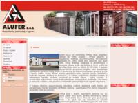 Frontpage screenshot for site: Alufer - aluminiska stolarija (http://alufer.hr)