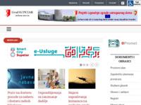 Frontpage screenshot for site: (http://www.gradsupetar.hr)