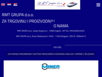 Frontpage screenshot for site: RMT Grupa d.o.o. (http://www.rmt.hr)