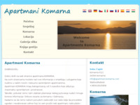 Frontpage screenshot for site: Apartmani Komarna - Komarna (http://www.apartmani-capin-komarna.hr)