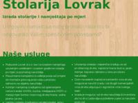 Slika naslovnice sjedišta: Stolarija Lovrak (http://www.lovrak.hr)