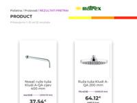 Frontpage screenshot for site: Matrex (http://www.matrex.hr/)