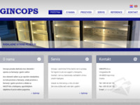 Frontpage screenshot for site: Gincops (http://www.gincops.hr)