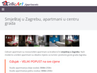 Frontpage screenshot for site: Apartmani Zagreb (http://www.celicart-apartments.com/)