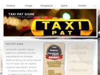 Slika naslovnice sjedišta: Taxi PAT Sisak (http://www.taxisisakpat.hr)