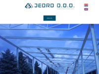 Frontpage screenshot for site: Jedro d.o.o. (http://www.jedro.hr)
