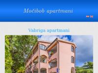 Frontpage screenshot for site: Močibob apartmani (http://mocibobapartmani.hr/)