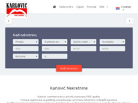 Frontpage screenshot for site: Agencija za nekretnine Karlovic.hr - Makarska (http://karlovic.hr)