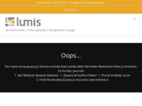 Frontpage screenshot for site: Lumis (http://lumis.hr)