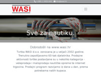 Frontpage screenshot for site: Wasi d.o.o. (http://www.wasi.hr)