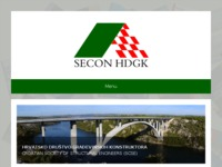 Frontpage screenshot for site: Secon HDGK (http://www.secon-hdgk.hr)